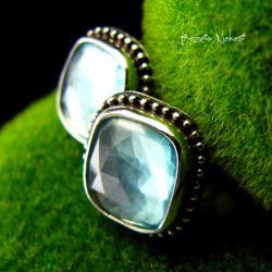 Nehesi,kolczyki,srebrny,srebrne,topazem - Kolczyki - Biżuteria