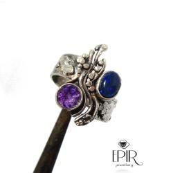 Pierścionek Srebrny z Czarnym Opalem - Pierścionki - Biżuteria