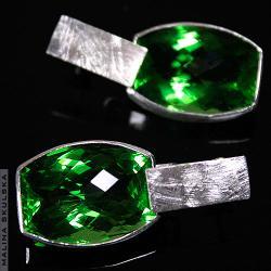 kolczyki,ametyst,srebrne,efektowne,luksusowe - Kolczyki - Biżuteria