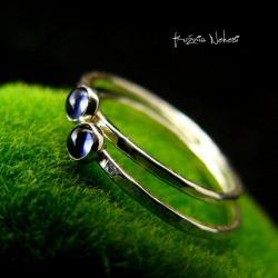 Nehesi,Pierścień,Ze Srebra,delikatny,iolitem - Pierścionki - Biżuteria