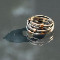 oryginalny,efektowny,okazały,ze złotem - Pierścionki - Biżuteria