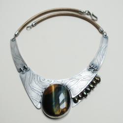 autorska,unikatowa,nitza,sokole oko - Komplety - Biżuteria
