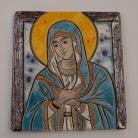 Ceramika i szkło Beata Kmieć,ikona,ceramika,obraz,Maryja