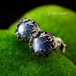 Nehesi,kolczyki,srebrne,wkretki,sztyfty,kyanit - Kolczyki - Biżuteria