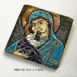 Beata Kmieć,ikona,obraz,matka boska,ceramika - Ceramika i szkło - Wyposażenie wnętrz