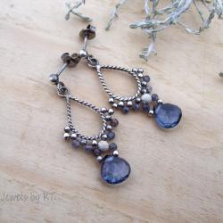 romantyczne,krople,kobiece,kwarc,mistyczny - Kolczyki - Biżuteria