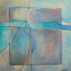 harmonia,abstrakcja,turkus,szary,niebieski,biel, - Pudełka - Wyposażenie wnętrz