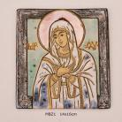 Obrazy ikona,obraz,ceramika,Matka Boska,Kmieć