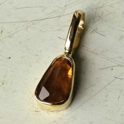 złoto,wisiorek,szafir,padparadża - Wisiory - Biżuteria