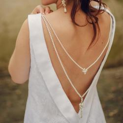 slubny naszyjnik na plecy Swarovski - Inne - Biżuteria