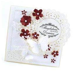 ślub,kwiaty,motyle,imiona,kartka - Kartki okolicznościowe - Akcesoria