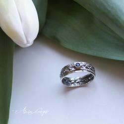 elegancka biżuteria,ozdobna obrączka - Pierścionki - Biżuteria