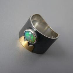opal,z opalem,złoto,ze złotem - Pierścionki - Biżuteria