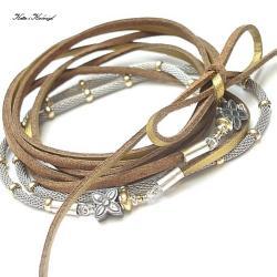 elegancki,rzemień - Naszyjniki - Biżuteria