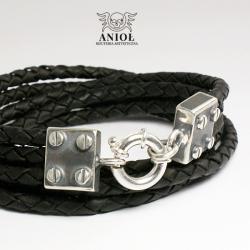 biżuteria męska,bransoleta skórzana - Dla mężczyzn - Biżuteria