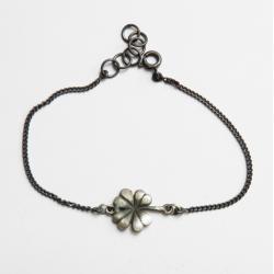 srebro,oksyda,koniczynka - Bransoletki - Biżuteria