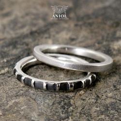 obrączki,pierścień,męska biżuteria - Pierścionki - Biżuteria