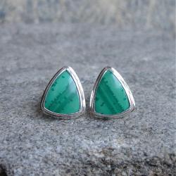 zielone kolczyki,malachit - Kolczyki - Biżuteria