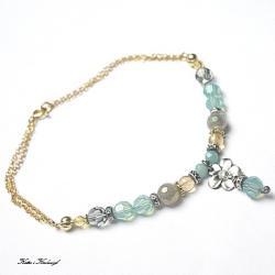 delikatna,pastelowa,kamienie,minerały - Bransoletki - Biżuteria
