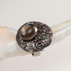 pierścionek,srebrny,romantyczny,kwiaty,prezent - Pierścionki - Biżuteria