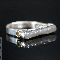 oryginalny,perła,cytryn,srebrny - Pierścionki - Biżuteria