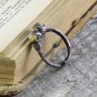 Pierścionki pierścionek,miedź,ekeltroformowanie,jadeit,unikat