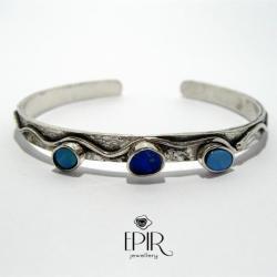 Bransoletka Srebrna z Opalami - Bransoletki - Biżuteria