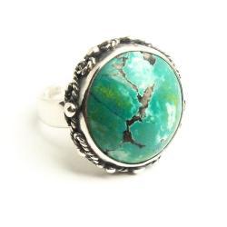 pierścionek z turkusem,regulowany - Pierścionki - Biżuteria