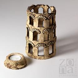lampion,świecznik,dekoracja,prezent,wieża - Świeczniki - Wyposażenie wnętrz