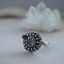pierścionek,srebrny,różowy,romantyczny,retro - Pierścionki - Biżuteria