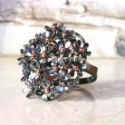 Pierścionki pierścionek,srebro,kwiaty,złoto