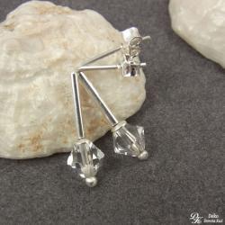 kolczyki,swarovski,crystal,ślubne,delikatne - Kolczyki - Biżuteria
