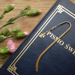 Pozłacana zakładka do książki z aniołem - Zakładki do książek - Akcesoria