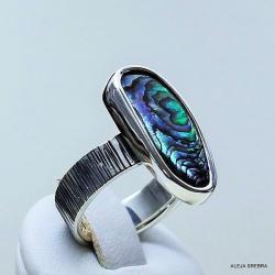 biżuteria,pierścionki,srebro,muszle,rękodzieło - Pierścionki - Biżuteria