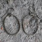 Kolczyki owal koło skromne lekkie minimalistyczne srebro