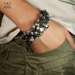 bransoleta skórzana,biżuteria damska - Bransoletki - Biżuteria