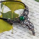 Naszyjniki naszyjnik,agat,wire wrapping,pociecha