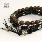 Bransoletki komplet skórzanych bransolet,biżuteria męska