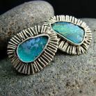 Kolczyki srebro,szkło z afganistanu,szkło,kolczyki
