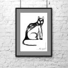 Ilustracje, rysunki, fotografia grafika,rysunek,na ścianę,wnętrze,dom,kot