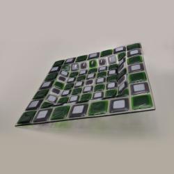 patera,szkło,fusing,zielony,fioletowy,biały - Ceramika i szkło - Wyposażenie wnętrz