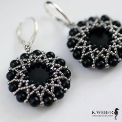 Czarne,onyksowe,eleganckie - Kolczyki - Biżuteria