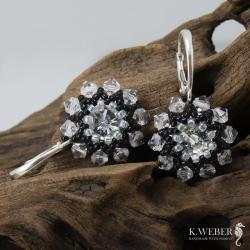 kolczyki,krótkie,kryształowe,eleganckie - Kolczyki - Biżuteria