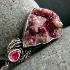 Wisiory srebro,rubin,fuchsyt,wisior