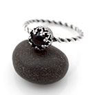 Pierścionki pierścionek,delikatny,onyks,czarny,srebrny