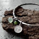 Bransoletki zielona,z kamieniami,kamienie naturlane,letnia