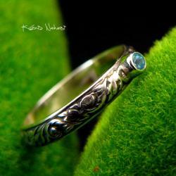 Nehesi,Pierścień,Ze Srebra,obączka,Topazem - Pierścionki - Biżuteria