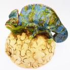 Ceramika i szkło ceramika,figurka,kameleon,rzeźba,glina