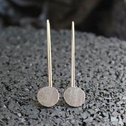 kolczyki,srebro,kropki,minimalistyczne,skromne - Kolczyki - Biżuteria