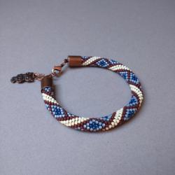 z koralików,bransoletka, - Bransoletki - Biżuteria